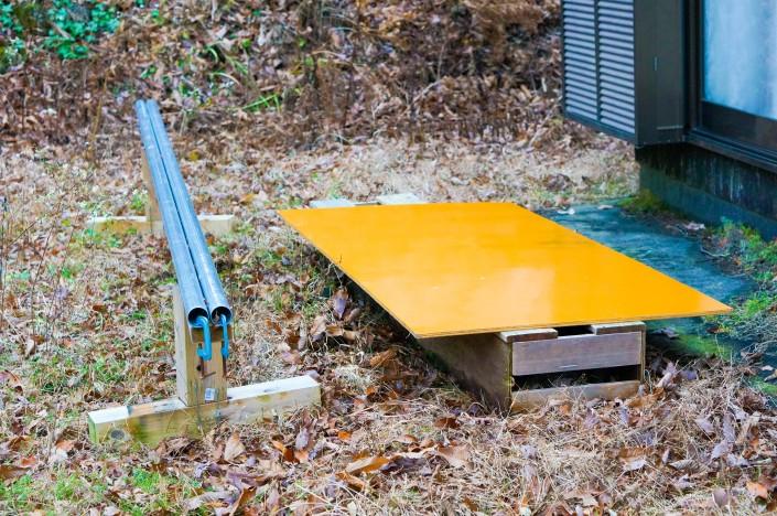 DIYしたスノーボード練習用アイテム