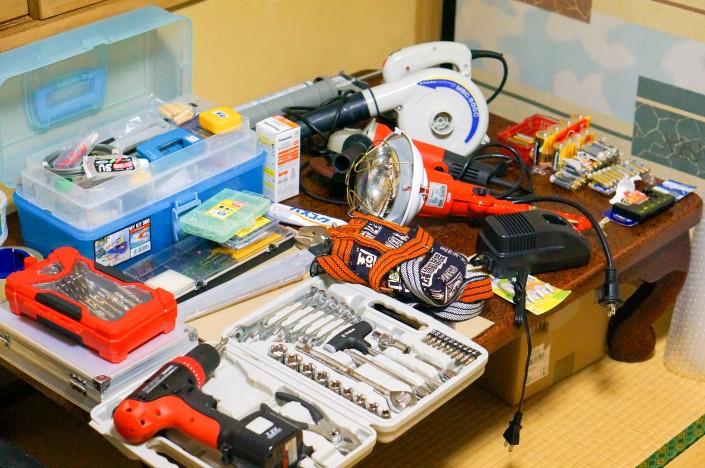 こちらに来て揃えた工具たち