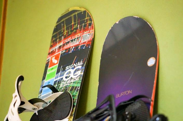 2人のスノーボード