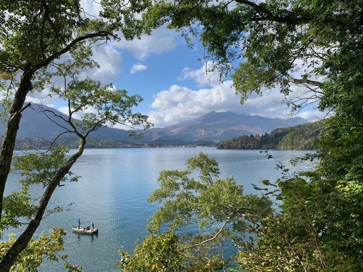 野尻湖の美しい景色