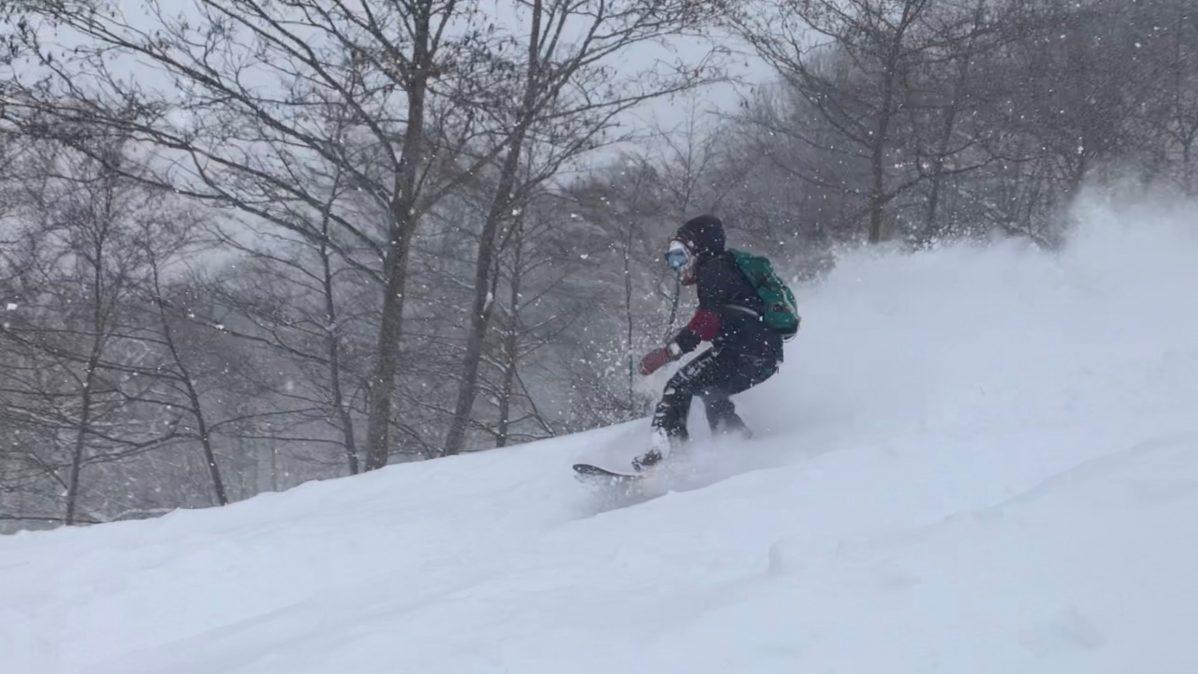家から5分でタングラム斑尾スキー場へ